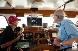 Iain Kerr and Roger Payne checking oil rigs on FLIR