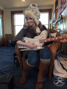 Jen Long with the Whale Guitar