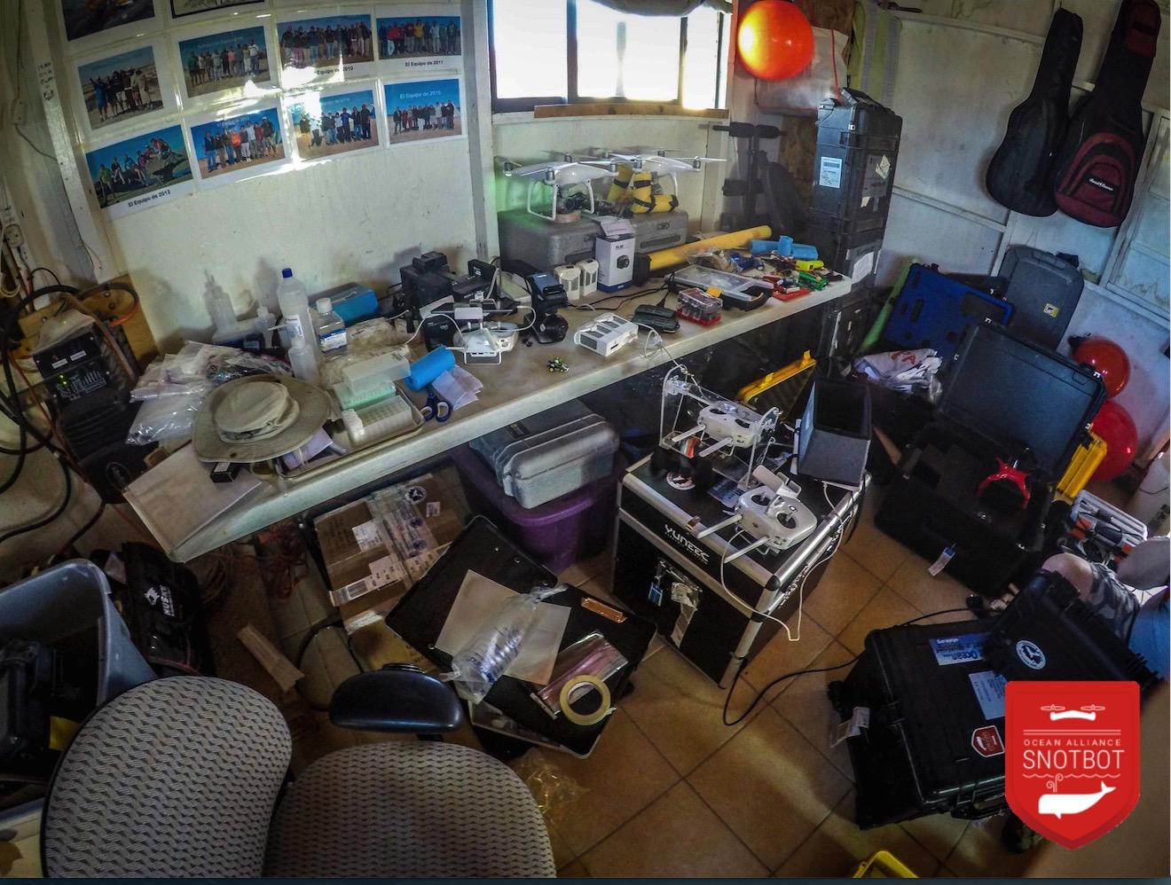 San Ignacio Lagoon drone workbench